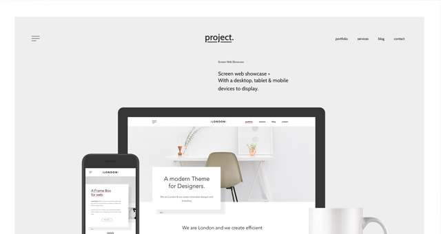 Psd Minimalist Web Showcase
