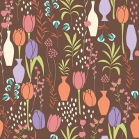 Coloured Tulips Pattern