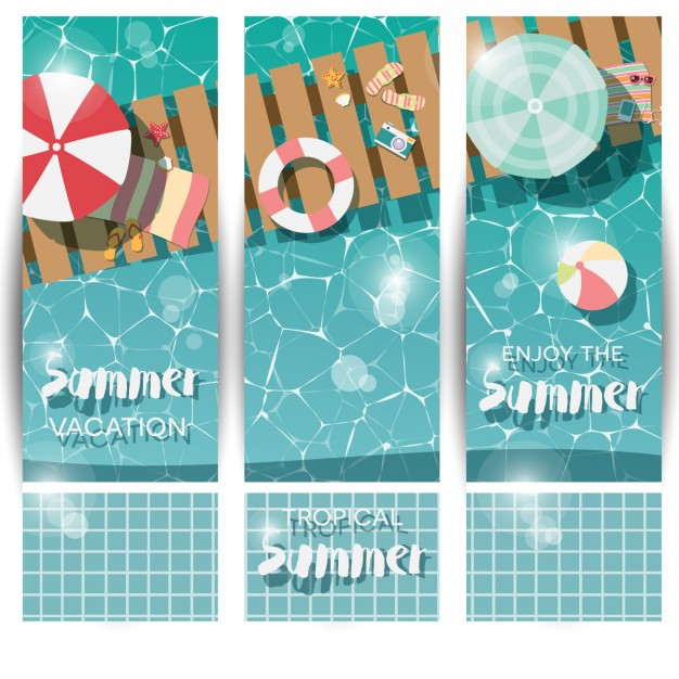 Coloured Summer Banners Collection
