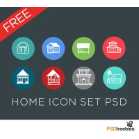 Flat Style Home Icon Set