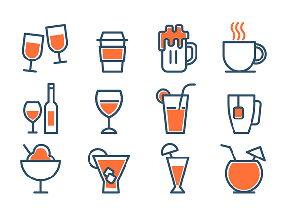 Free Drinks Icons Set