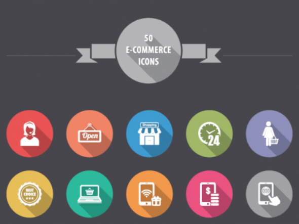 Free Flat Ecommerce Icons