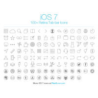 100+ Free iOS 7 Tab Bar Icons