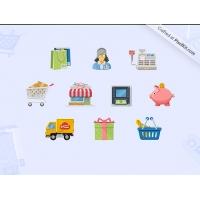 Charming Boutique Icon Set