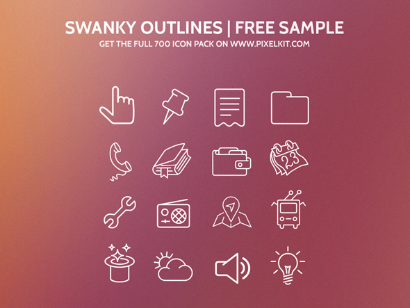 Swanky Outlines Icon Set