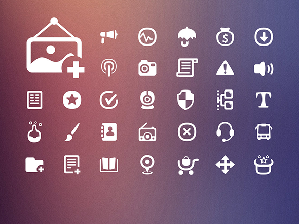 Gentle Edges Icon Set