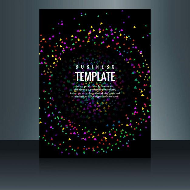 Elegant Brochure With Confetti