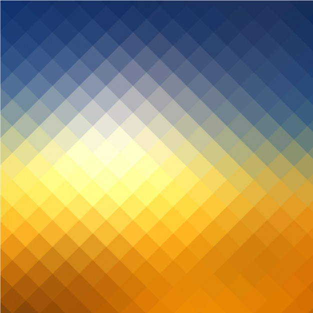 Coloured Background With Squared Shapes