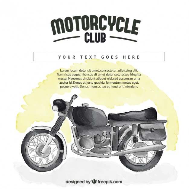 Watercolor Motorbike Background