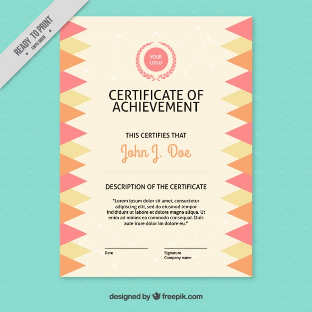 Certificate With Triangular Shapes