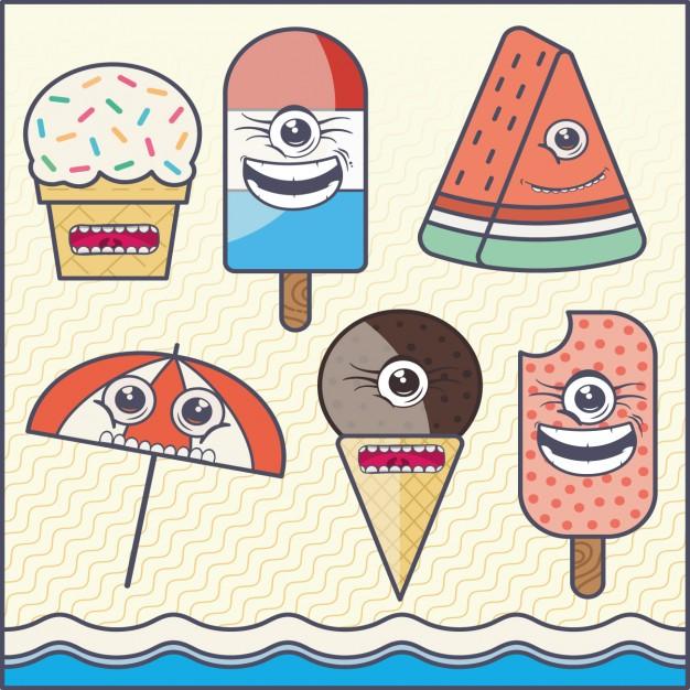 Coloured Ice Creams Background