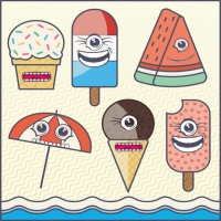 Coloured Ice Creams Background