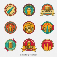 Vintage Badges For Oktoberfest