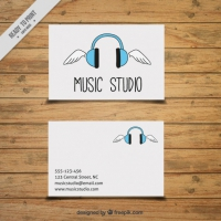 Card Hand Drawn For A Music Studio