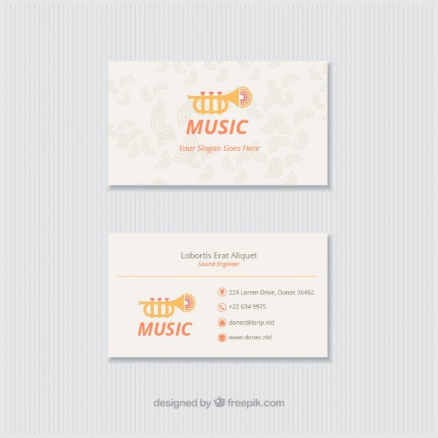Fun Card For A Music Studio