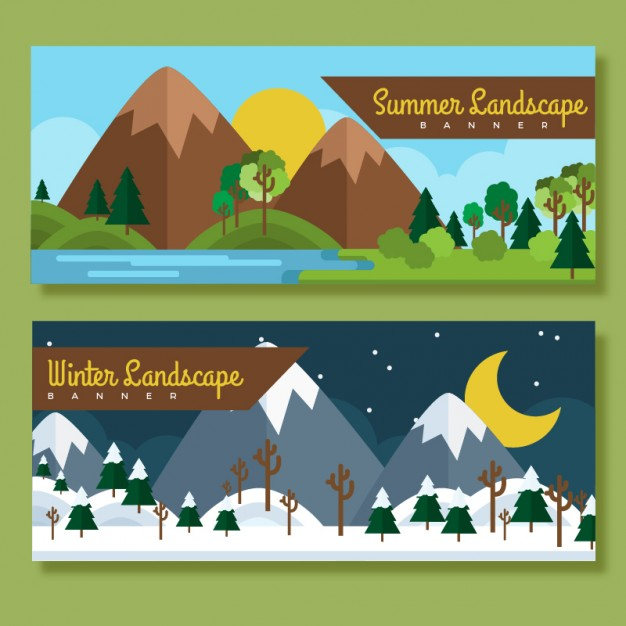 Summer And Winter Landscapes
