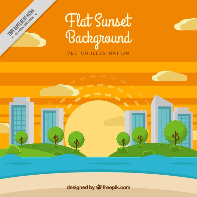 Nice Background Of Sunset