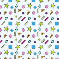 Coloured School Elements Pattern Design