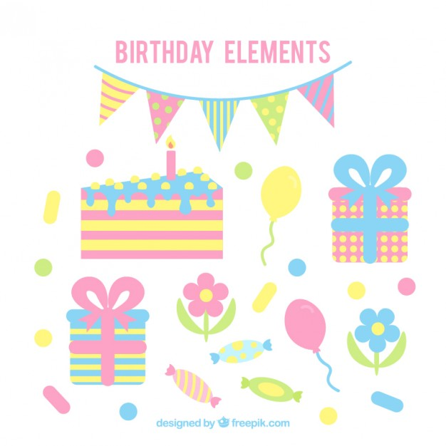 Vintage Birthday Decoration In Pastel Colors