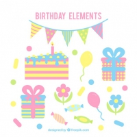 Vintage Birthday Decoration In Pastel Colors