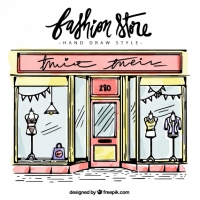 Sketch Of Fashion Stor