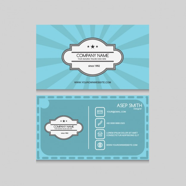 Vintage Business Card Design