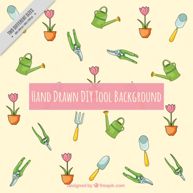 Background With Gardening Tools