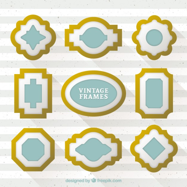 Realistic Style Gilt Frames