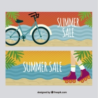 Vintage Banners Of Summer Offers