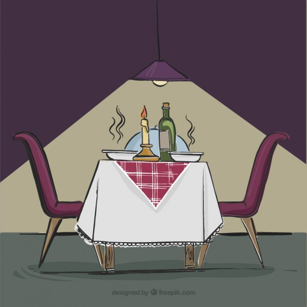 Intimate Dinner In A Restaurant