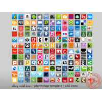 Shiny Social Icons