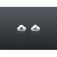 Tick and Cross Cloud Icons