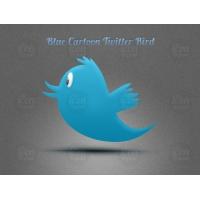 Blue Cartoon Twitter Bird