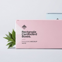 Rectangular Psd Box Mockup Vol2