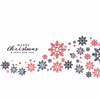 Stylish Snowflakes Background