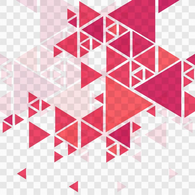 Modern Red Geometric Background