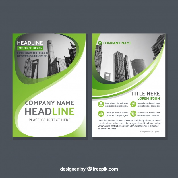 Green Corporate Abstract Brochure