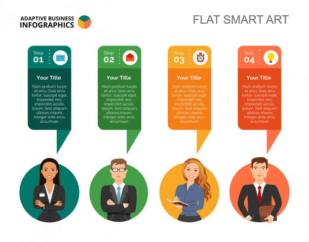 Four Step Diagram Slide Template