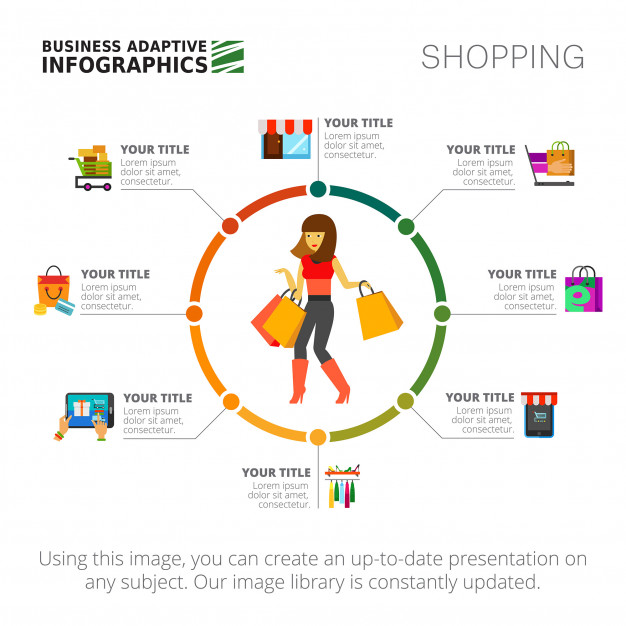 Shopping Infographics Slide Template