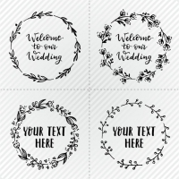 Simple Wedding Wreaths