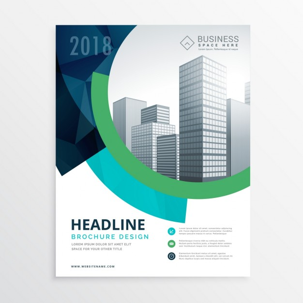 Corporate Brochure With Circular Shapes 2018