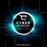 Shiny Cyber Monday Background