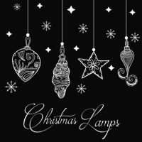 Hand Drawn Christmas Lamps Background