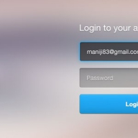 Login Form UI Free PSD