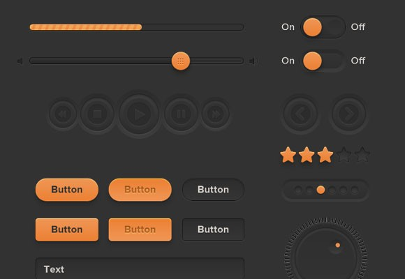 Orange UI Kit Free PSD