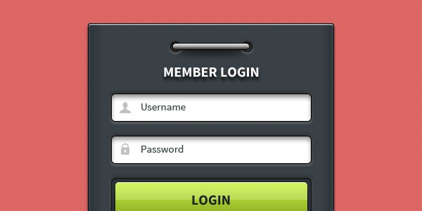Member Login Form UI Element