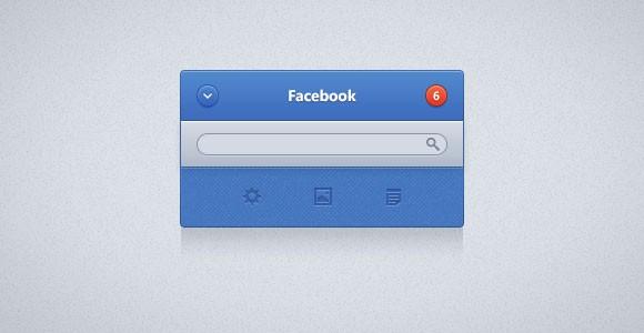 Facebook UI Widget PSD