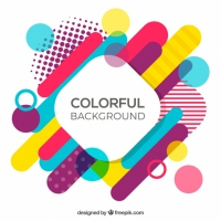 Multicolor Geometrical Shapes Background
