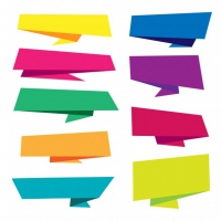 Colorful Origami Banner Collection
