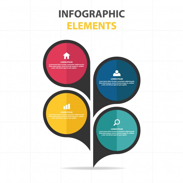 Infographic Business Template In Speech Bubble Style